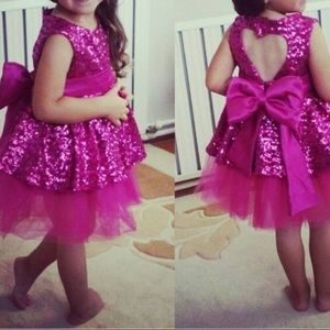 Other - BRAND NEW Pink Sequin Baby Girl Dress